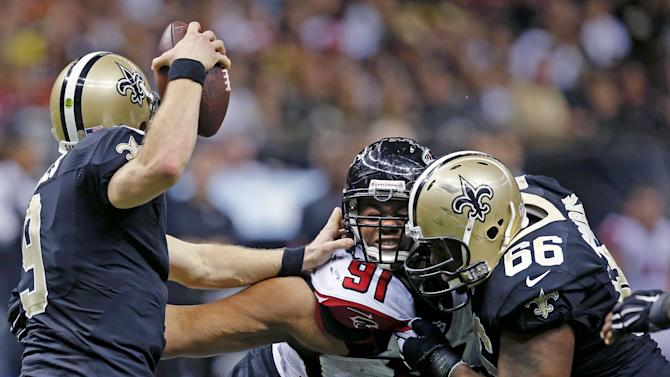 Jones' return helps Falcons eliminate Saints, 30-14
