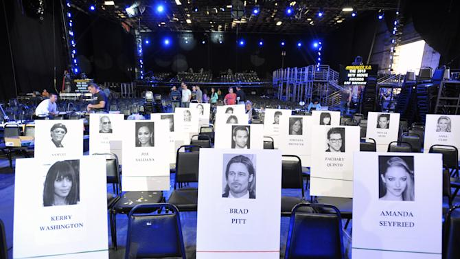 A general view of seating during the MTV Movie Awards Press Day at Sony Studios on Thursday, April 11, 2013, in Culver City, Calif. (Photo by John Shearer/Invision for MTV Networks/AP Images)