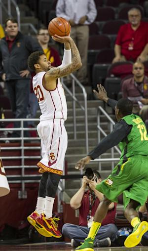 Moser leads Oregon to 78-63 victory over USC