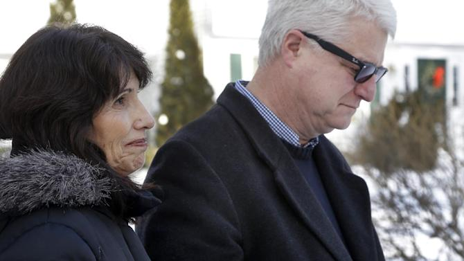 Diane and John Foley speak about their son, James Foley, 39, a journalist who was kidnapped in Syria by unknown gunmen on Thanksgiving day, during a news conference at their home in Rochester, N.H., Thursday, Jan. 3, 2013. The Foleys are appealing to his captors for any information about his health and welfare. They said they have not received any information about him in six weeks. (AP Photo/Elise Amendola)