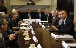 U.S. President Obama meets with health insurance chief…