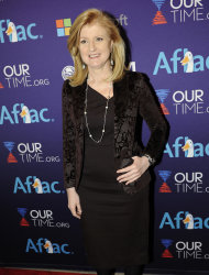 Arianna Huffington arrives at OurTime.org's Inaugural Youth Ball Generation Now Party on Saturday, Jan. 19, 2013, in Washington. (Photo by Nick Wass/Invision/AP)