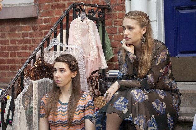 "Zosia Mamet and Jemima Kirke in the ""Girls"" Season 2 episode, ""Bad Friend."""