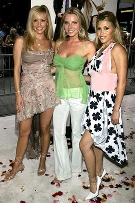 Camille Anderson , Ivana Bozilovic and Rachel Sterling at the New York premiere of New Line Cinema's Wedding Crashers