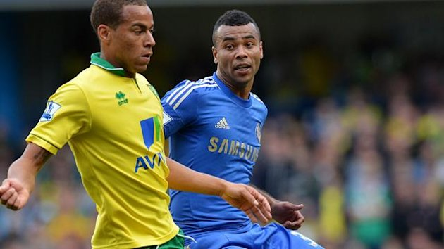 Ashley Cole in action against Norwich City