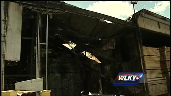 Lumber company catches fire in LaGrange