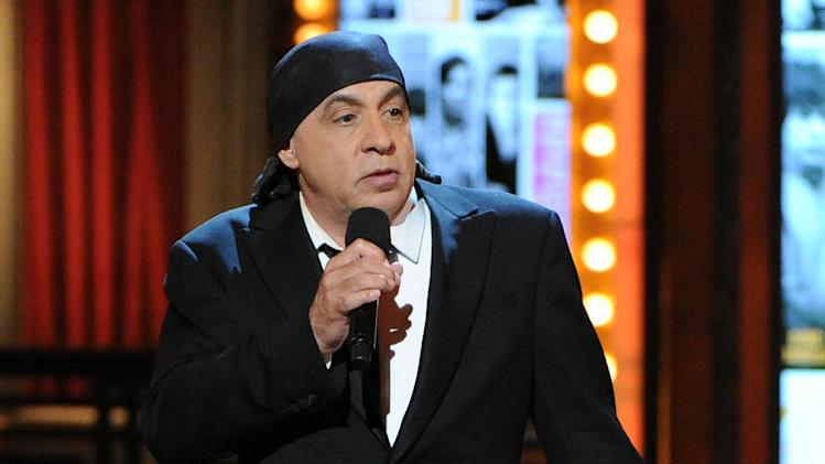 FILE - This June 9, 2013 file photo shows Steven Van Zandt performing at the 67th Annual Tony Awards in New York. (Photo by Evan Agostini/Invision/AP, File)