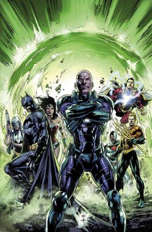 "This comic image released by DC Entertainment shows the cover art for ""Justice League."" (AP Photo/DC Entertainment)"