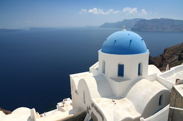 Church on Santorini, Oia, Greece