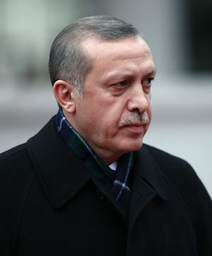 FILE - In this Jan. 9, 2012 file photo, Turkish Prime Minister Recep Tayyip Erdogan seen outside his office in Ankara, Turkey. Officials say Erdogan, who had surgery for non-cancerous intestinal polyps in November, has successfully undergone a second and final operation. His office said he underwent surgery for a half-hour late Saturday, Feb. 11, 2012 and will resume work within the next week. (AP Photo/Burhan Ozbilici, File)