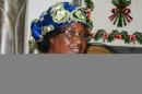 Photo taken on on May 22, 2014 shows Malawi President Joyce Banda speaking during a press conference in Lilongwe, Milawi