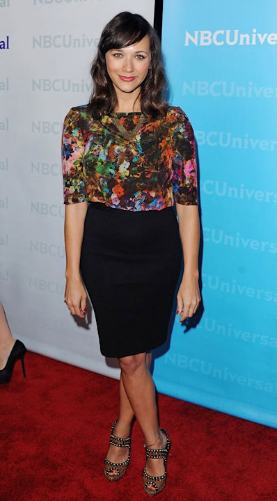 "Rashida Jones (""Parks and Recreation"") attends the NBC Universal 2012 Winter TCA Tour All-Star Party at The Athenaeum on January 6, 2012 in Pasadena, California."
