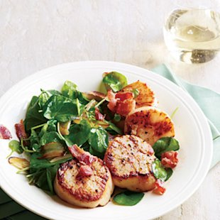 ... : 20-Minute Recipe: Seared Scallops with Wilted Watercress and Bacon