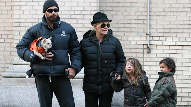 Jackman Lee With Kids Ang Dog