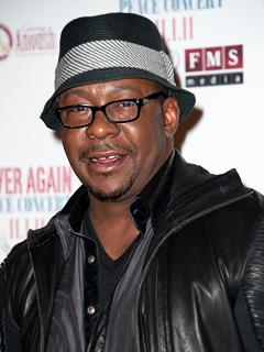 "Bobby Brown ""Energetic and Smiling"" at His Concert Night of Whitney Houston's Funeral"
