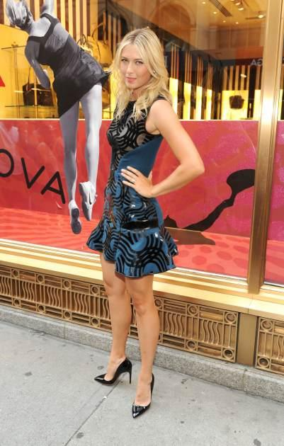 Maria Sharapova celebrates the one year anniversary of Sugarpova by launching 'Sugarpova Accessory Collection' exclusively at Henri Bendel on August 20, 2013 in New York City -- Getty Images