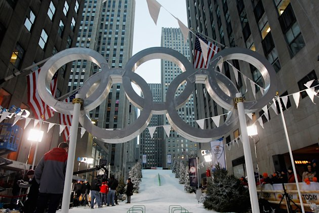 USOC At The Today Show Announcing One Year Out To Sochi 2014 Winter Olympics