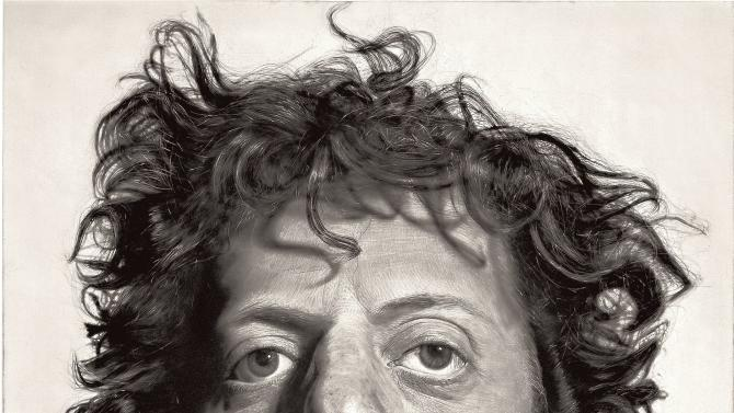 """This photo provided by the Metropolitan Museum of Art shows Chuck Close's painting """"Phil,"""" in the museum's new exhibition """"Regarding Warhol: Sixty Artists, Fifty Years.""""  The exhibition begins Tuesday, Sept. 18, 2012, and runs through Dec. 31. (AP Photo/Metropolitan Museum of Art)"""