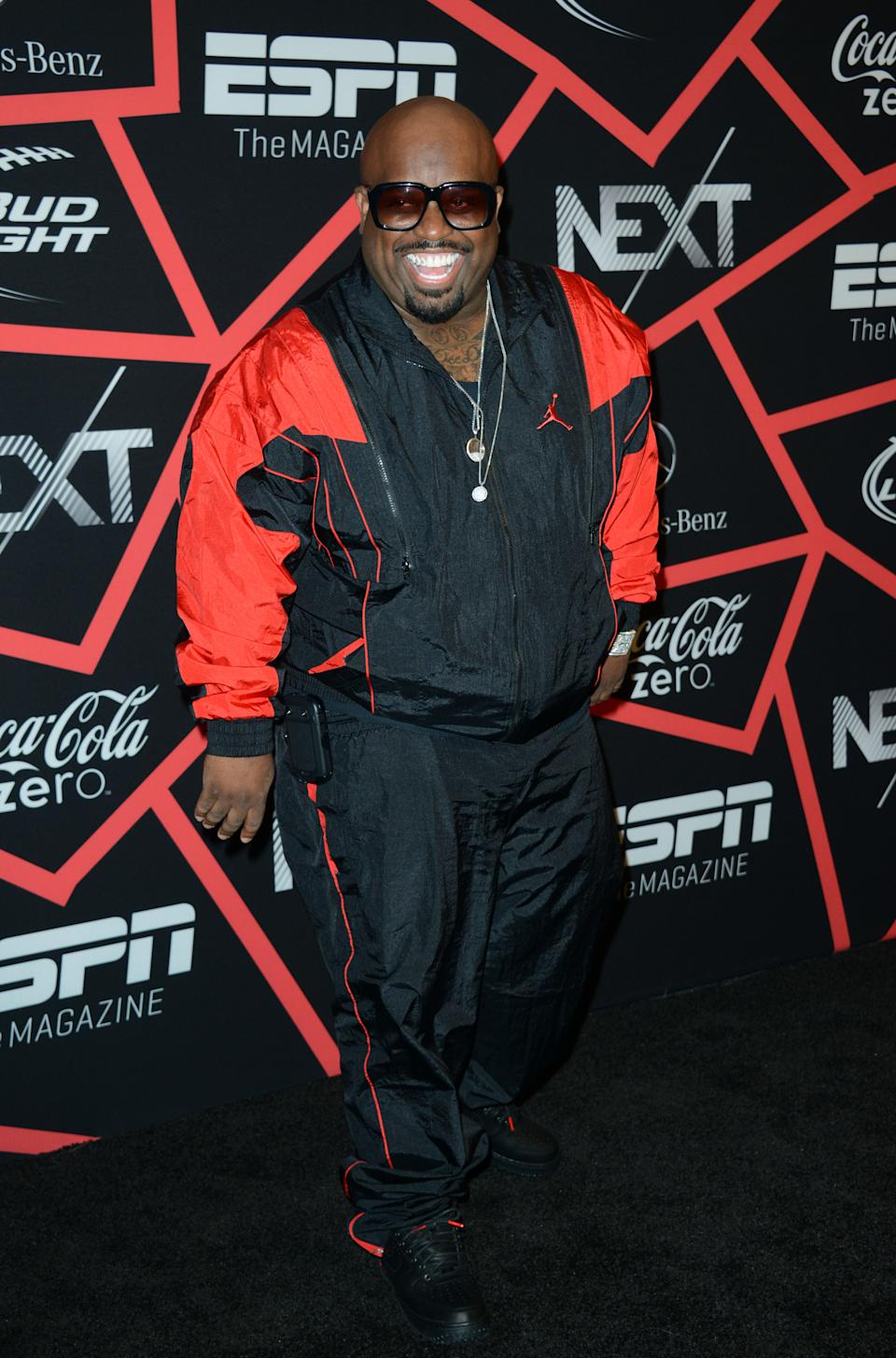 "Cee Lo Green arrives at ESPN The Magazine's ""Next"" Event on Friday, Feb. 1, 2013 in New Orleans. (Photo by Jordan Strauss/Invision/AP)"