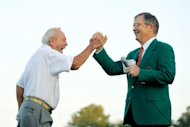 &lt;p&gt;Billy Payne (R), chairman of the Augusta National Golf Club, high fives veteran golfer Arnold Palmer at the start of the 2012 Masters Tournament in April. &quot;This is a joyous occasion as we enthusiastically welcome Secretary Condoleezza Rice and Darla Moore as members of Augusta National Golf Club,&quot; Payne said.&lt;/p&gt;