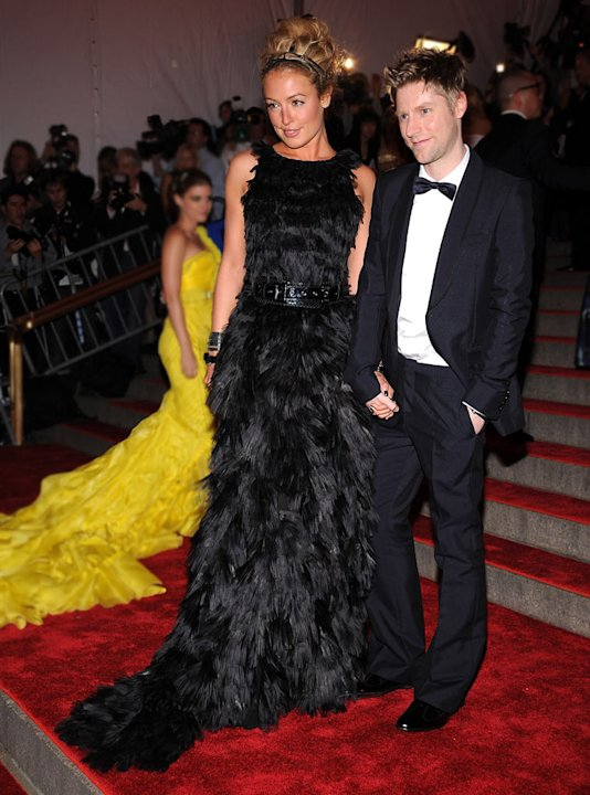 "Cat Deeley and Christopher Bailey attend the Metropolitan Museum of Art Costume Institute Gala ""Superheroes: Fashion And Fantasy"" at the Metropolitan Museum of Art on May 5, 2008 in New York City."