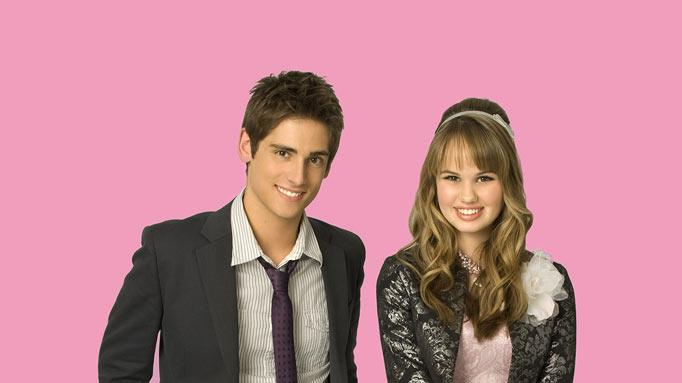 "Jean-Luc Bilodeau stars as Jay and Debby Ryan stars as Abbey Jensen on ""16 Wishes."""