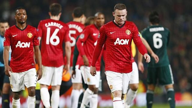 FOOTBALL Ligue des champions 2013 Manchester United Rooney Evra