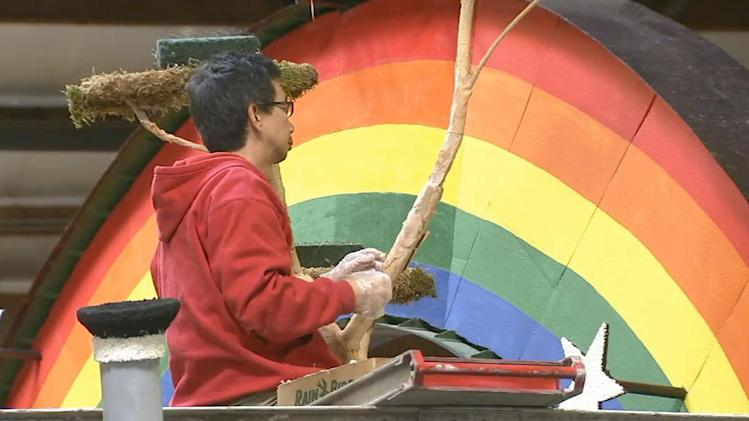 Rose Parade: Clock winds down on float preparations