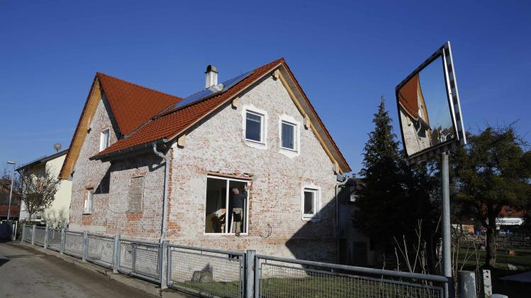 A flood-affected house stands orphaned in Fischerdorf a suburb of the eastern Bavarian city of Deggendorf
