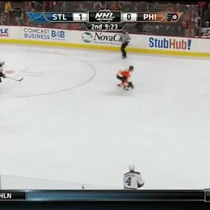 Steve Mason Save on Alex Pietrangelo (10:39/2nd)