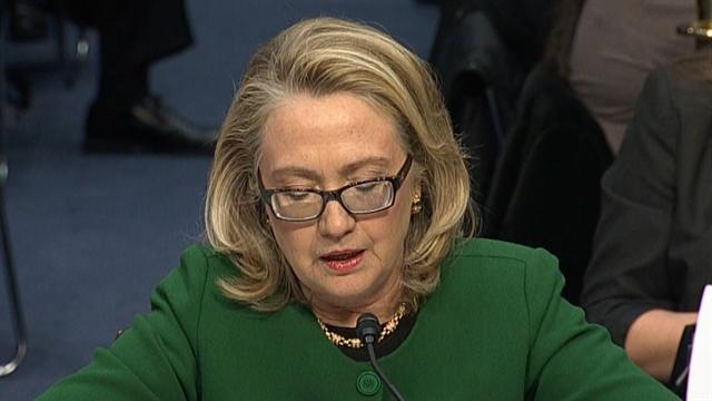 Clinton spars with Republican critics over Benghazi