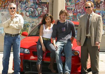 "Dennis Hopper, Chris Carmack, Nadine Velazquez and Will Patton USA Network's ""The Last Ride"" Nadine Velazquez"