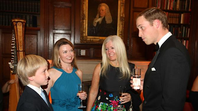 Britain's Prince William attends the 100 Women in Hedge Funds Philanthropic Initiatives gala dinner in London,  Thursday,  Sept. 30, 2010. (AP Photo /  Darren Fletcher, Pool)