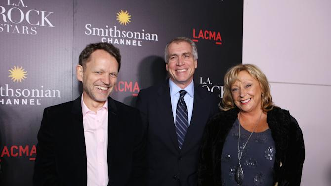 EVP of Programming and Production at Smithsonian Channel David Royle, General Manager of Smithsonian Channel Tom Hayden and Producer Judith Curran at Smithsonian Channel's Celebration of Vintage Clothing Mecca The Way We Wore, With New Original Series L.A. FROCK STARS, on Tuesday, Mar. 5, 2013 in Los Angeles. (Photo by Eric Charbonneau/Invision for Showtime/AP Images)