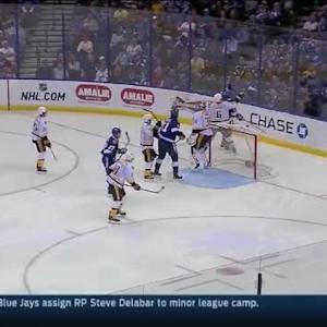 Pekka Rinne Save on Jonathan Drouin (03:08/3rd)