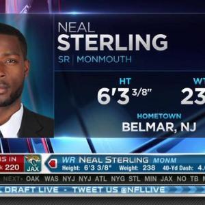 Jacksonville Jaguars pick wide receiver Neal Sterling No. 220 in 2015 NFL Draft