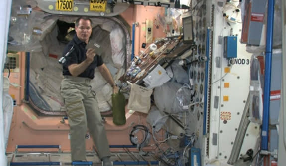NASA Astronaut Celebrates Thanksgiving in Space