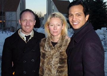 Director Mike Mills (II), Tilda Swinton and Benjamin Bratt Thumbsucker Premiere - 1/23/2005 Sundance Film Festival