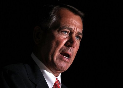 "<p>US Speaker of the House John Boehner speaks on December 4 at the West Front Lawn of the U.S. Capitol in Washington, DC. Boehner said there was ""no progress"" in deficit talks and accused the White House of recklessly pushing the country to the fiscal brink over tax hikes.</p>"