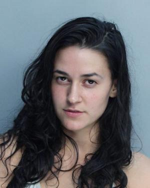 This photo provided by the Miami Beach Police Department, shows Latin rap artist Kat Dahlia. Dahlia, whose real name is Katriana Huguet, was arrested early Tuesday, July 30, 3013 in Miami Beach on charges of DUI and resisting arrest without violence. (AP Photo/Miami Beach Police Dept)