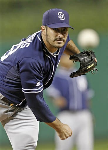 Marquis pitches two-hitter for Padres