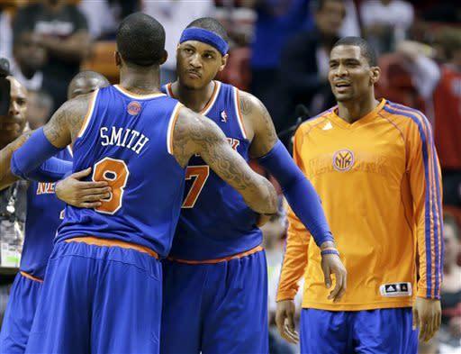 Anthony scores 50 as Knicks beat Heat 102-90