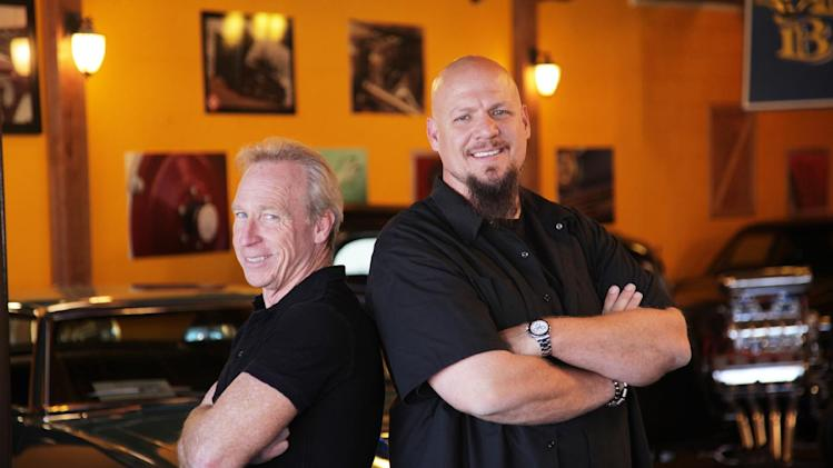 "This publicity image released by CNBC shows Perry Barndt, left, and Jeff Allen from ""The Car Chasers,"" a reality series premiering Tuesday, March 5 at 10 p.m. EST on CNBC. (AP Photo/NBC, Kevin Lynch)"