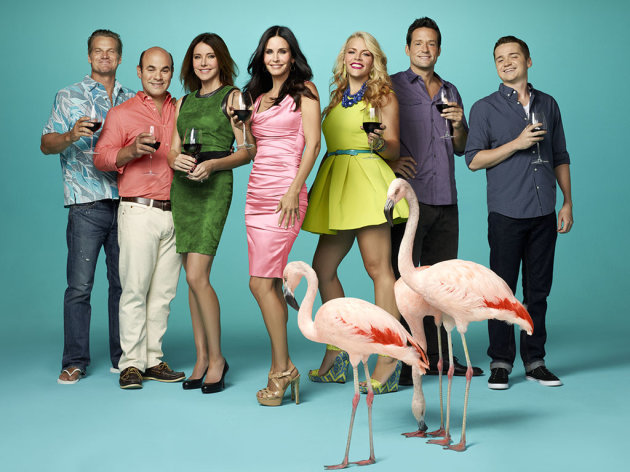 The cast of &quot;Cougar Town&quot; on TBS.