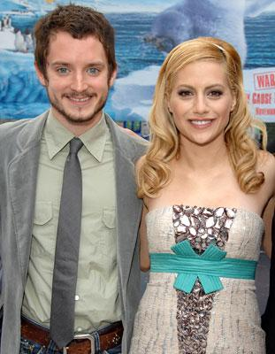 Elijah Wood and Brittany Murphy at the Hollywood premiere of Warner Bros. Pictures' Happy Feet