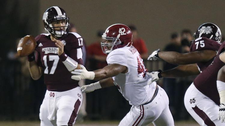 No. 1 Alabama beats Mississippi State 20-7