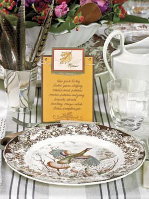Take on Thanksgiving with Turkey Transferware