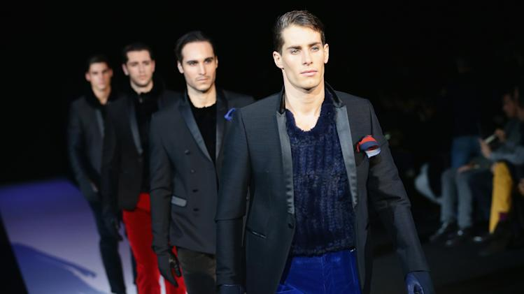 Emporio Armani - Runway - Milan Fashion Week Menswear Autumn/Winter 2013