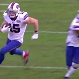 Buffalo Bills wide receiver Chris Hogan's 31-yard catch