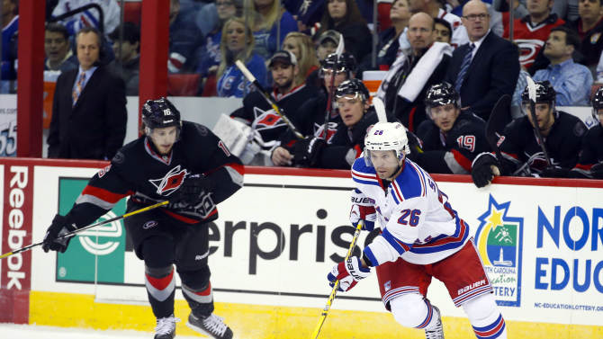 NHL: New York Rangers at Carolina Hurricanes